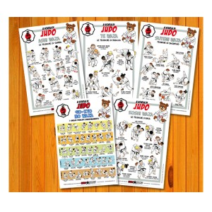 Poster set of Judo 30x45