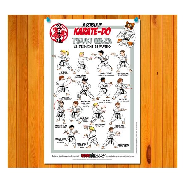 Poster set of Karate 30x45 - Budobooks Edizioni