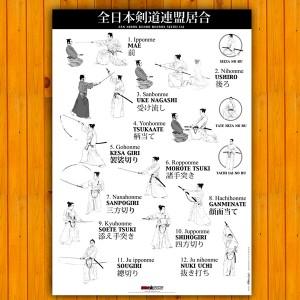 Poster Iaido ZNKR Seitei Iai
